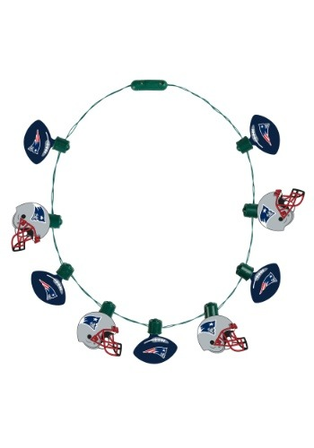 New England Patriots Light Up Ball Necklace