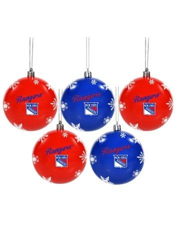New York Rangers 5 Pack Shatterproof Ball Ornament