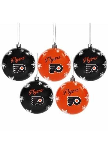 Philadelphia Flyers 5 Pack Shatterproof Ball Ornament Set