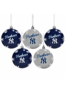 New York Yankees 5 Pack Shatterproof Ball Ornament