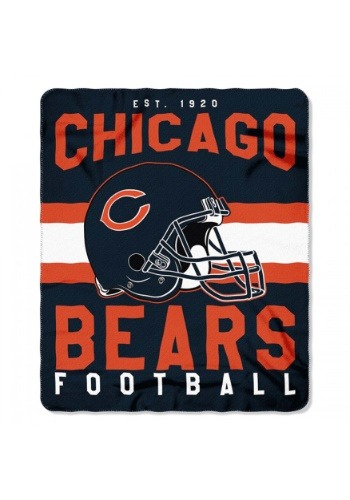 Chicago Bears NFL Singular Fleece Throw