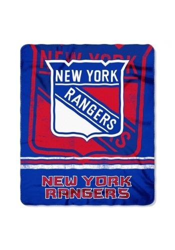 New York Rangers NHL Fadeaway Fleece Throw