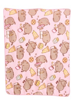 Pusheen Junk Food Throw Blanket