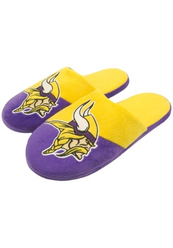 Minnesota Vikings Colorblock Slide Slipper
