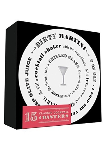 Cocktail Recipe Coaster 15 Piece Set