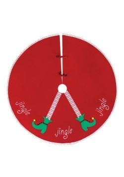 """Jingle Elf 54"""" Felt Tree Skirt"""
