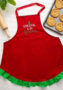 Drink Up Grinches Christmas Apron