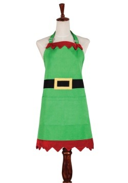 Christmas Elf Green Apron