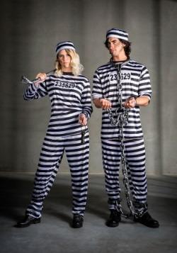 Striped Prisoner Women's Costume