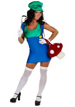 Women's Sexy Green Plumber Costume