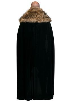 Black Faux Fur Collar Viking Cape Alt 2