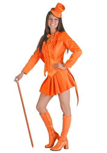 Sexy Bright Orange Tuxedo Costume