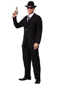 Men's Black Suit Costume