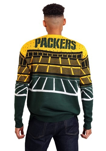 best service ab024 4a44c Green Bay Packers Light Up Bluetooth Ugly Christmas Sweater