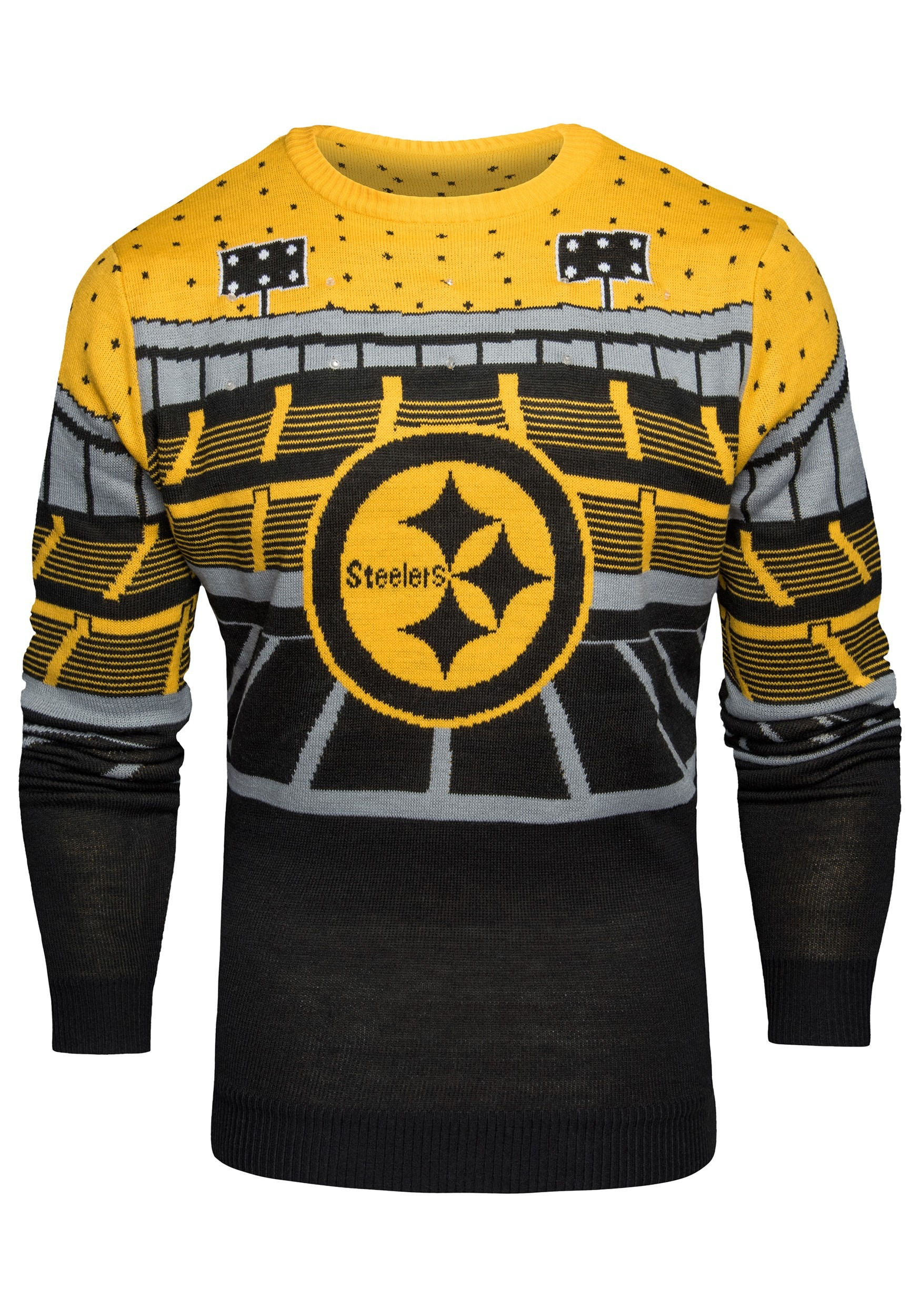 NFL Pittsburgh Steelers Light Up Bluetooth Ugly Christmas Sweater f9ef852d1
