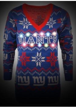 New York Giants Women's Light Up V-Neck Bluetooth