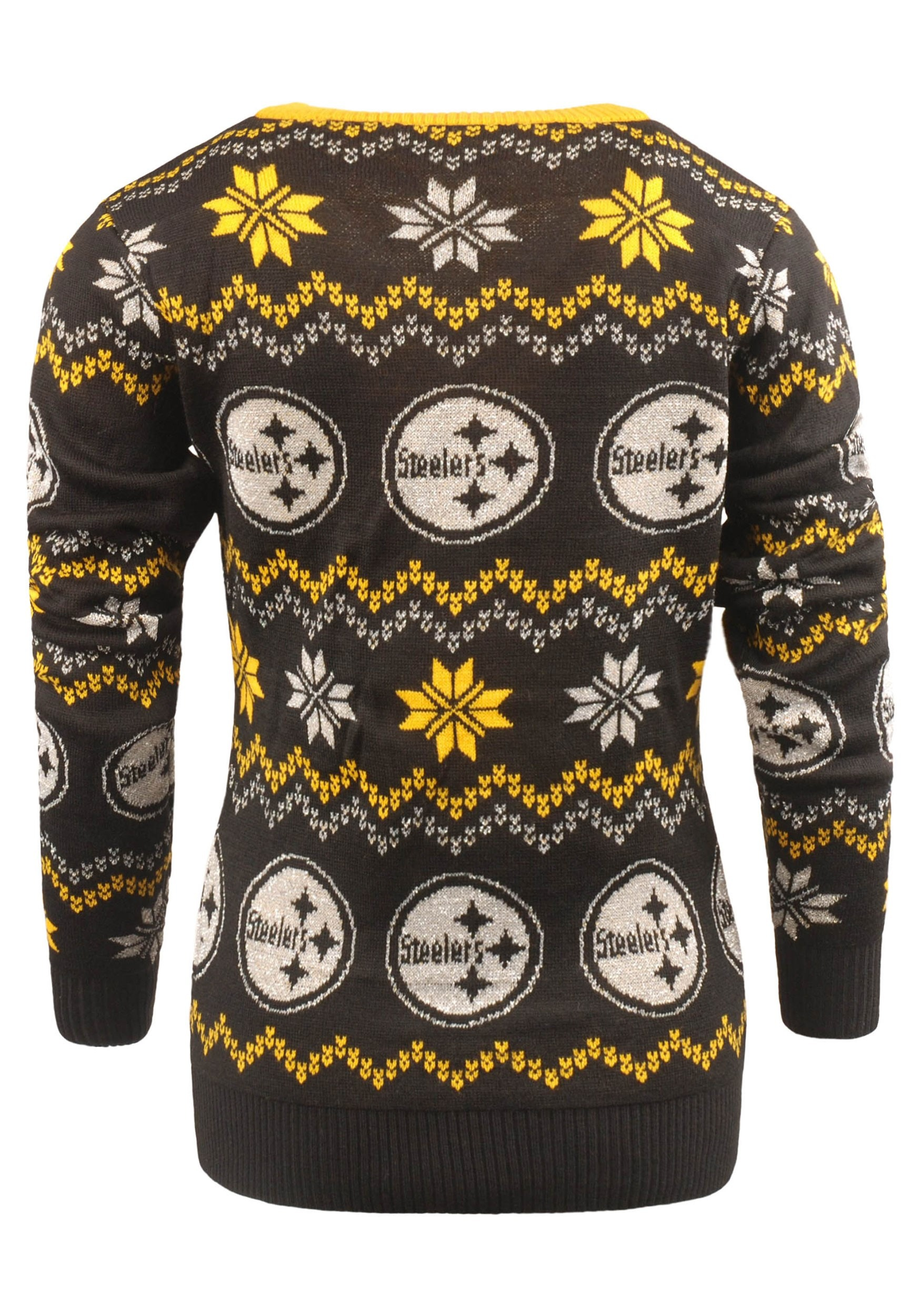 NFL Pittsburgh Steelers Light Up V-Neck Bluetooth Ugly Sweater for Women 20a739507