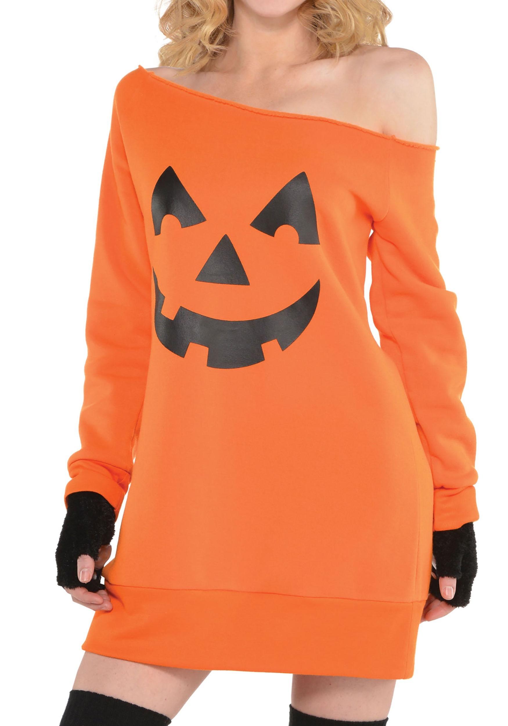 Womens_Pumpkin_Off_the_Shoulder_Tunic