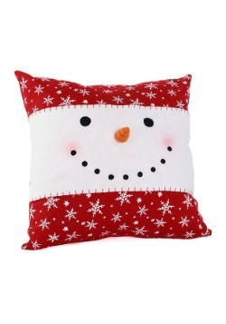 "16"" Snowman & Snowflakes Pillow"