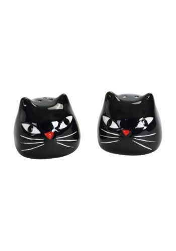 Black Cat Salt & Pepper Shakers