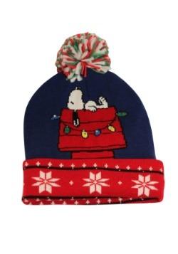 Snoopy Cuff Pom Beanie