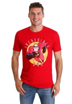 Men's Pixar's Incredibles Incredible Dad Red T-Shirt