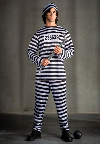 Mens Plus Size Prisoner Costume