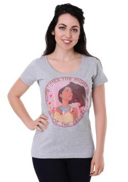Women's Disney's Pocahontas Right Path Heather Gray Scoop Ne