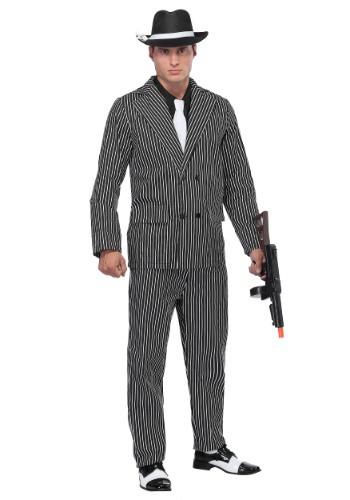 Wide Stripe Plus Size Gangster Suit Costume