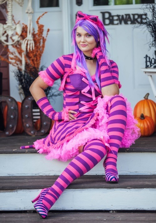 Sexy Wonderland Cat Plus Size Costume3