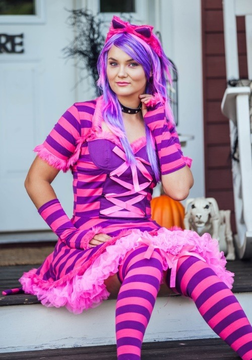 Sexy Wonderland Cat Plus Size Costume4