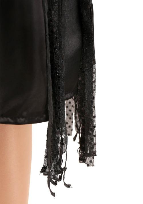 Women's Plus Size Black Jazz Flapper Costume Alt 2
