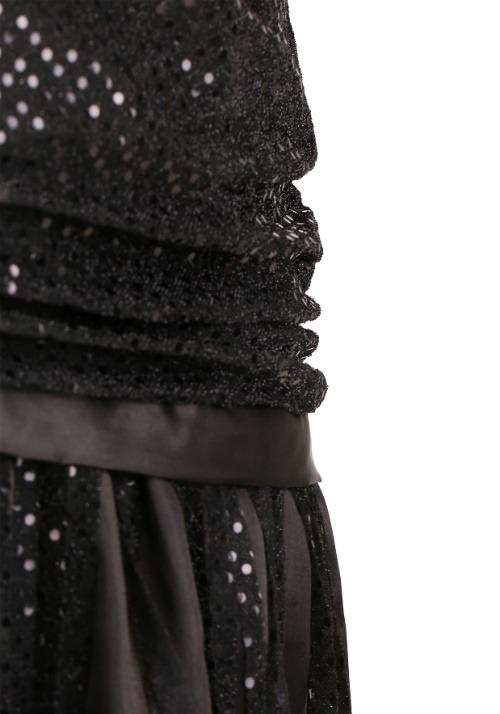 Women's Plus Size Black Jazz Flapper Costume Alt 4