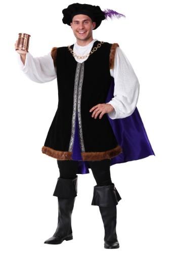 Mens Plus Size Noble Renaissance Man Costume