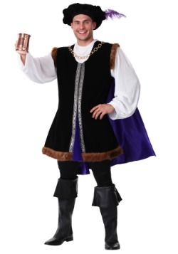 Mens Plus Size Noble Renaissance Man Costume