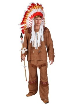 Plus Size Deluxe Mens Native American Costume