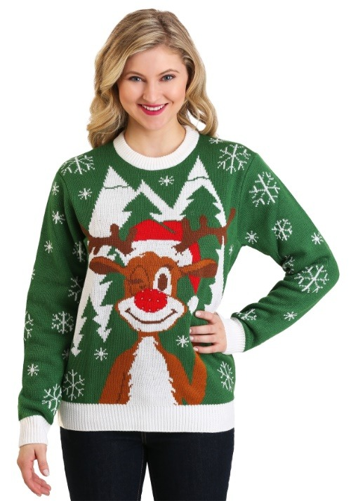 Adult Hello Deer: Light Up Ugly Christmas Sweater