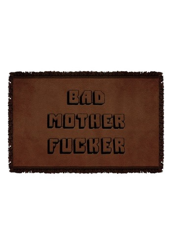 Woven Pulp Fiction Bad Mother Fucker Throw