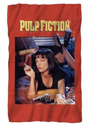 Pulp Fiction Poster Lightweight Fleece Blanket