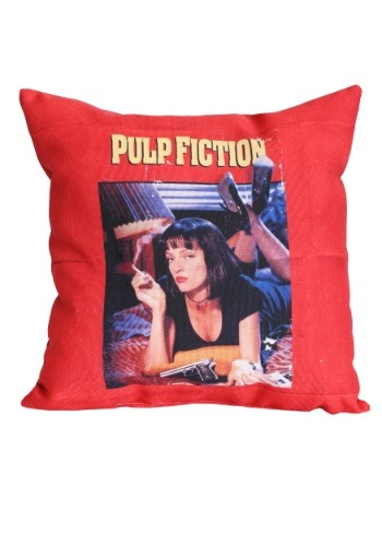 """Pulp Fiction Movie Poster 14"""" x 14"""" Throw Pillow"""