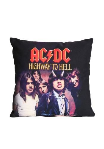"""AC/DC Highway to Hell 14"""" x 14"""" Throw Pillow"""