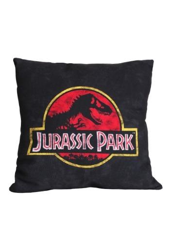 """Jurassic Park Logo 14"""" x 14"""" Throw Pillow"""