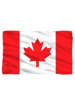 Canadian Flag Lightweight Fleece Blanket
