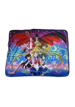 Sailor Moon R Group Sublimation Throw Blanket