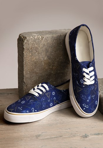 Harry Potter Blue Womens Canvas Shoes