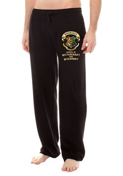 Harry Potter Hogwarts Crest Black Lounge Pants