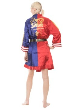 Harley Quinn Suicide Squad Cosplay Satin Robe Back