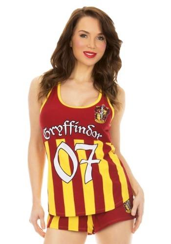 Harry Potter Gryffindor Varisty Cami and Short Sleeve Set