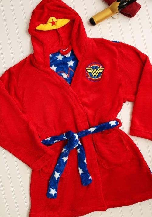Wonder Woman Hooded Plush Robe