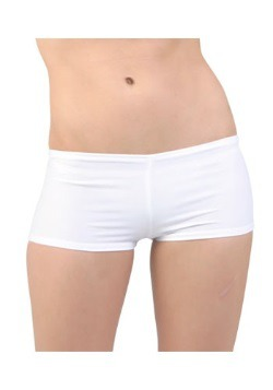 Sexy White Lycra Hot Pants For Women